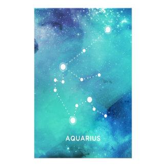 Elegant Aquarius för Nebula för Brevpapper