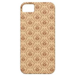 Elegant beige- och bruntdamastmodell iPhone 5 Case-Mate fodral