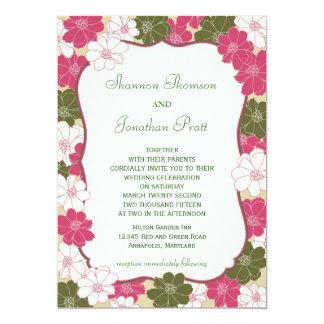 Elegant blom- bröllopinbjudan 12,7 x 17,8 cm inbjudningskort