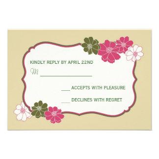 Elegant blom- OSA kort Inbjudningskort