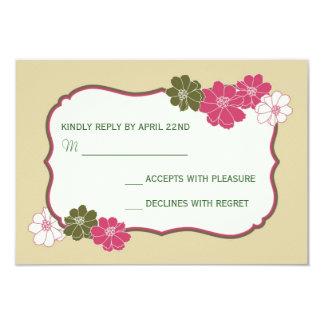 Elegant blom- OSA kort 8,9 X 12,7 Cm Inbjudningskort