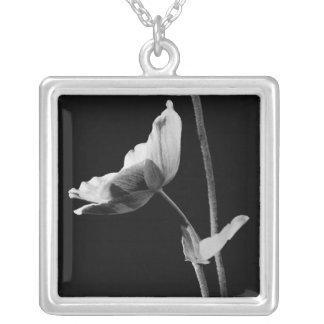 Elegant blomma Neclace Silverpläterat Halsband