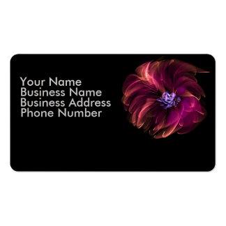 Elegant blommavisitkort set av standard visitkort