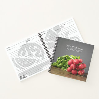 Elegant Texture Grey Radish Photo Recipes Book