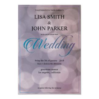 Elegant Bokeh bröllopinbjudan 8,9 X 12,7 Cm Inbjudningskort
