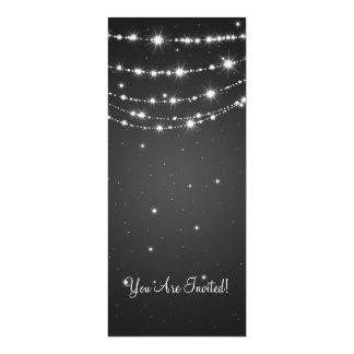 Elegant bröllop som Sparkling, kedjar svart 10,2 X 23,5 Cm Inbjudningskort