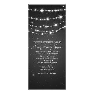 Elegant bröllop som Sparkling kedjar svart Inbjudningar