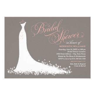 Elegant bröllopkappa för inbjudningskort för