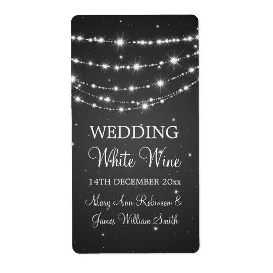Elegant bröllopvinetiketten som Sparkling, kedjar Fraktsedel