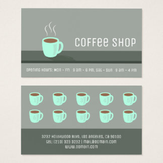 Elegant coffee shoplojalitetstansmaskin visitkort