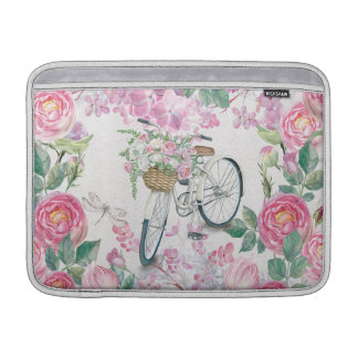 Elegant cykel och blommor MacBook air sleeve