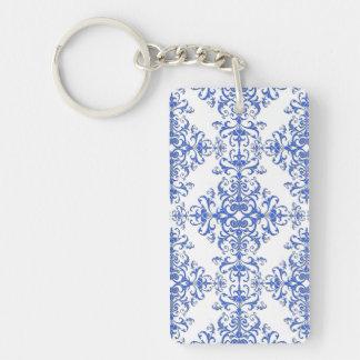 Elegant damast för stil för för koboltblått och nyckelring