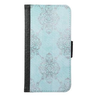 Elegant damastast design plånboksfodral för samsung galaxy s6