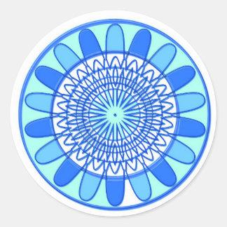 Elegant design för blåttgnistrajuvel runt klistermärke