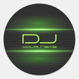Elegant DJ-klistermärke Runt Klistermärke