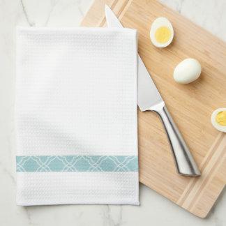 Elegant enkel kökshandduk för blåttgränsTea