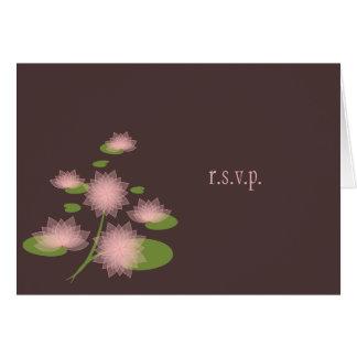 Elegant enkel samtida OSA för rosa näckros OBS Kort