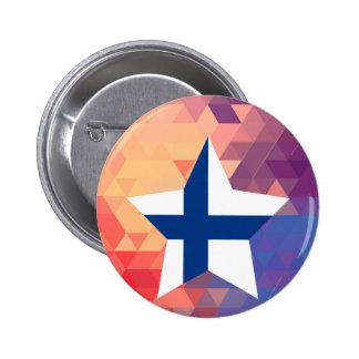Elegant Finland flaggahjärta Standard Knapp Rund 5.7 Cm