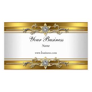 Elegant flott juvel för guld- vit visit kort