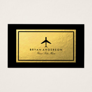 Elegant flygplanvisitkort visitkort