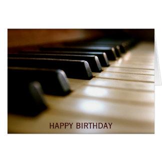 Elegant födelsedag för pianotangentbordmusik hälsningskort