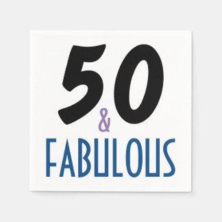 Elegant- & för roligt 50th födelsedagsfest pappersservett