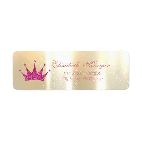 Elegant glamorös Glittery Tiara, adressetikett