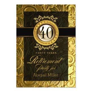 Elegant glamour utföra i relief pensionparty 12,7 x 17,8 cm inbjudningskort