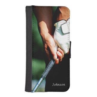Elegant Golfgolfare med beställnings- text Plånboksskydd För iPhone 5