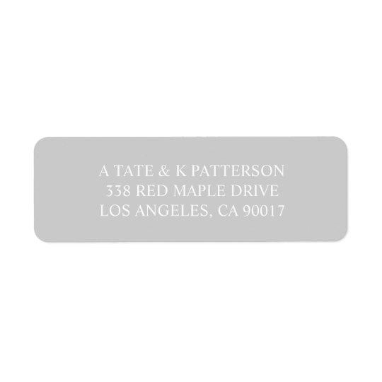 Elegant grå färginbjudanreturetiketter returadress etikett