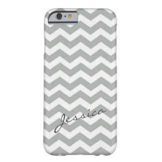 Elegant grå färgsparresicksack med namn barely there iPhone 6 fodral