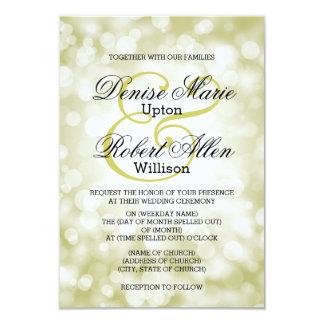 Elegant guld- Bokeh bröllopinbjudan 8,9 X 12,7 Cm Inbjudningskort