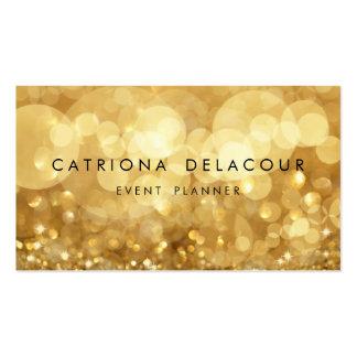 Elegant guld- glitterBokeh visitkort