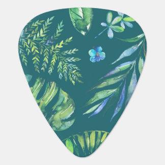 Elegant hawaiansk vattenfärgblommigt plektrum