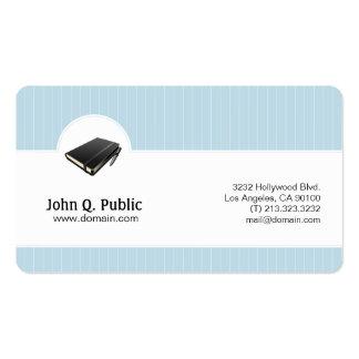 Elegant himmelblåttvisitkort set av standard visitkort