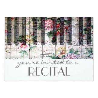 elegant högläsning för musik för vintagetrendig 11,4 x 15,9 cm inbjudningskort