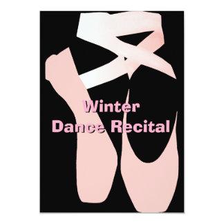 Elegant inbjudan för balettdanshögläsning