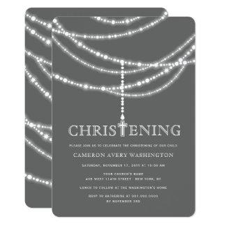 Elegant inbjudan för Christening för