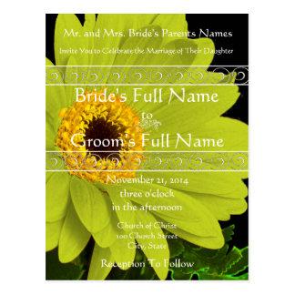Elegant inbjudan för Gerber daisybröllop