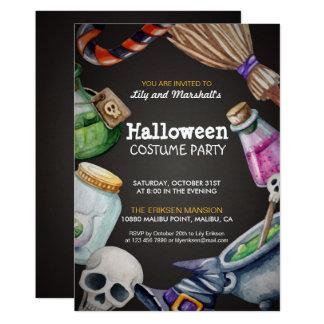 Elegant inbjudan för Halloween dräktparty