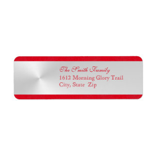 Elegant julreturadressetikett returadress etikett