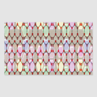 Elegant juvelmönsterromantik välsignar gif för rektangulärt klistermärke