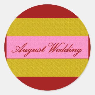 """Elegant klistermärke """"för Augusti bröllop"""""""