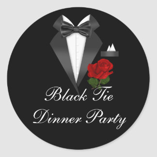 Elegant klistermärke för party för middag för tux-
