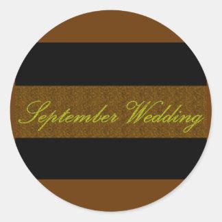 """Elegant klistermärke """"för September bröllop"""""""