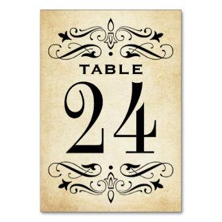 Elegant krusidull för vintage bröllopbordkort | bordsnummer