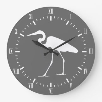 Elegant kust- vitEgretfågel & grått Stor Klocka