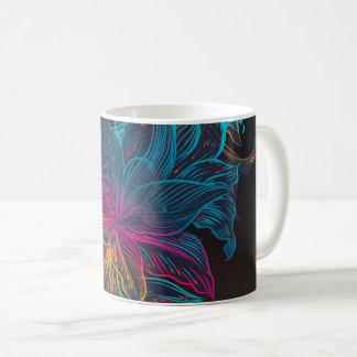 elegant lyxig struktur för blommamönster kaffemugg