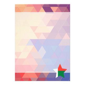 Elegant Madagascar flaggahjärta 12,7 X 17,8 Cm Inbjudningskort