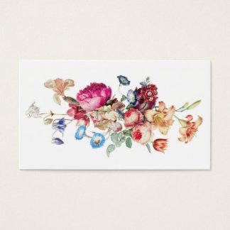 Elegant mall för mönster för vintageblommigtro visitkort